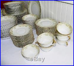 82 Pieces Noritake M Vanity Pattern China Almost 12 Place Settings Serving Japan