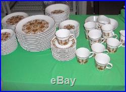 87 Pc Set Vintage Noritake Progression China Protea Pattern #9067 RARE