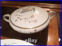 88 Piece NORITAKE China FLORENCE #5528 Pattern 12 Place Settings, Serving Pieces