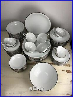 89 Pc 12 People NORITAKE SILVERDALE DISH PLATE SET Excellent Fine China