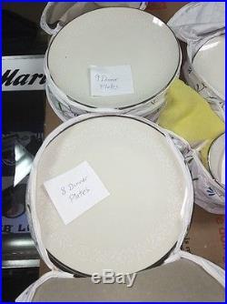 89 Piece Set Noritake Ivory China Lorelei 7541 Wow Must See
