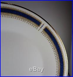 8 Noritake Blue Dawn Coupe 6611 China 5 Pc. Place Settings Gold Decor Blue Trim