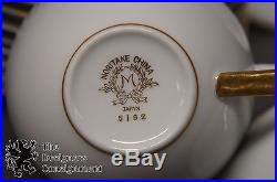 90 Pc Noritake Japan M 5102 Bradford China Set Gilded Rim 12 Place Settings