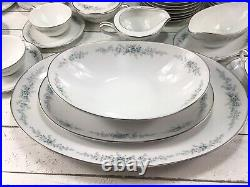 92 Piece set of Noritake Roseberry China Service For 12 Plus Serving Dishes