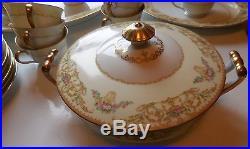 94 pieces Noritake Nanette vintage dinnerware set Japan 683 Fine China