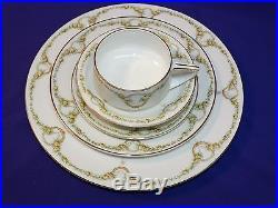 Antique 5 Pc Place Setting Rosenthal Bone China Donatello Briar Rose Dinnerware