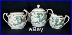 Antique Japanese Noritake Porcelain Dragonware Tea Set Yamada China c1920s