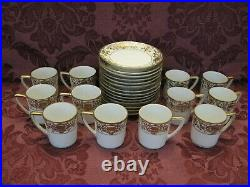 Antique Noritake 175 Christmas Ball China Cups and Saucers -Set of 12+ Nice