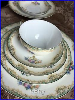 Antique Noritake Crandon 4 Place Setting China 28 Piece Dinnerware (2nd) Set