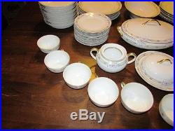Antique Noritake Japan Fine China NORTHCLIFFE 86pc Dinnerware Dishes Set