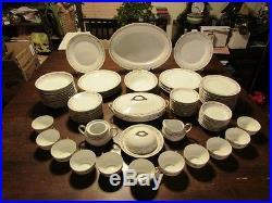 Antique Noritake Occupied Japan Fine China NORTHCLIFFE 86p Dinnerware Dishes Set