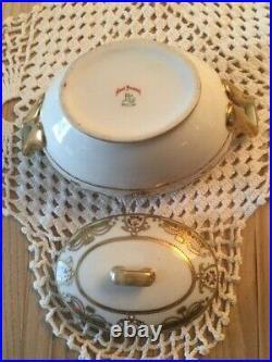 Antq Nippon Royal China 3 Pc Serving Set Tea Pot Creamer Sugar Bowl Hand Painted