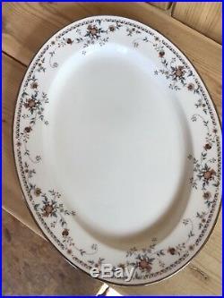 Beautiful Noritake Adagio White China Oval 12 14 & 16 Serving Platter Set
