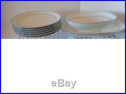 CHINA DINNERWARE SET, Noritake Brooklane 6112, 1970s. SIX PLACE SETTING