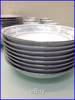 CROWN MING FINE CHINA (1273) 43-Piece Dinner Set Service for 8