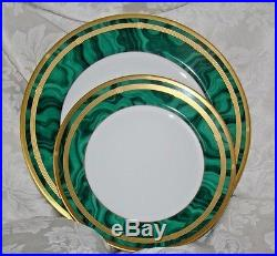 Christian Dior 5-Piece Fine China Place Setting Gaudron Malachite Green Gorgeous