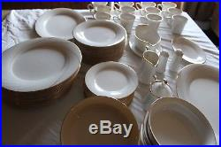 Complete 80pc Noritake #7739 Golden Tide 12 Place Setting China Dinnerware