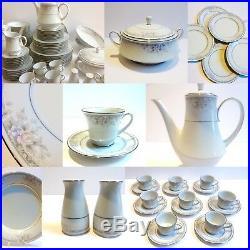 Dinner Set Noritake China Tea & Coffee Service Japan White Silk Garland