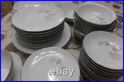 Discontinue- vintage Noritake China Rosay #6216- set of 66 pieces