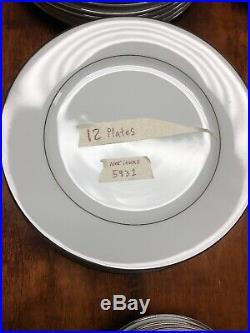 Discontinued 82 Pcs Noritake Derry Fine China Set 5931 Plat Trim Vintage 1940s