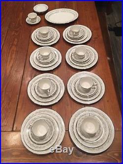 Elegant vintage Noritake 7561 Parkridge China set Service for 8 and platter