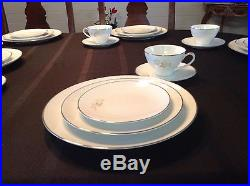 FANCY DISHES Noritake Altadenawhite china complete place setting for 8