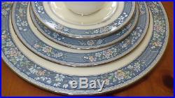 Fine Bone China Dinnerware Set Noritake Randolph service 12 Hostess 65pcs MINT