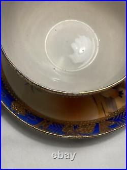 Fine Bone China Tea Set 1920s Camel Noritaki Hand Painted Gold & Cobalt Japan