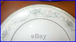 Fine China Dinnerware set Colburn by NORITAKE service 6 Blue Floral 1960 vintage