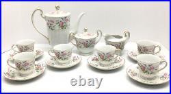 Gorgeous 15pc Tea Set Vintage Noritake Fine China Veronic 5009 Tea Pot Tea Cups