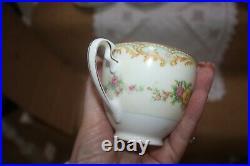 Gorgeous Vintage Deco Noritake China Tea Set Cream Green Floral 1930's 2