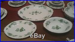HOT SALE 12 place setting 93 pc lot mikasa Manchu narumi Green willow fine China