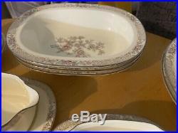 Huge lot Noritake Imperial Garden Bone China 12 6 pc place setting Bowls S&P