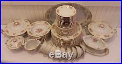 Large Set of 56 Pieces Noritake Rose China Occupied Japan