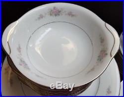 Lovely 91 Piece Noritake Astor Rose Fine China Place Setting for 12 + Serving