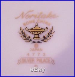 Lovely Set Of 6 Noritake Bone China 4773 Silver Palace Bread & Butter Plates
