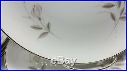 Mikasa Fine China My Love 8243 Japan Dinnerware China Set Dishes Pink Rose White