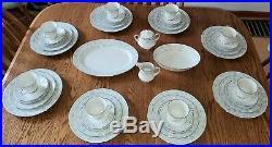 NEW 45 pc Noritake String of Pearls 3480 starter set for 8, serving bowl/platter