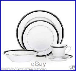 NEW NORITAKE TOORAK NOIR DINNER SET 20pc KITCHEN DINNEWARE PIECE CHINA PORCELAIN