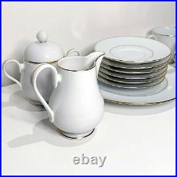 (NEW) Noritake Gold Lane Complete Tea Set (Vintage Fine China) Never Used