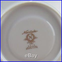 NIB Noritake Duetto China New 23 Piece Tea Set Teapot C&S Sugar Creamer Plates