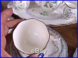 NORITAKE BONE CHINA 19 Pcs TEA SET POT CUPS CREAMER SUGAR BOWL FLORAL VILLA GOLD