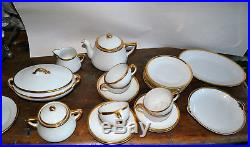 NORITAKE CHILDREN's TEA DINNER CHina SET Goldena White w Gold Trim 1930's green