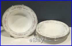 NORITAKE CHINA SHENANDOAH SET 4 RIM SOUP BOWLS XLNT (3 sets to sell)