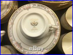 NORITAKE China BARRYMORE 9737 pattern 40-pc SET 8 Place Settings Excellent