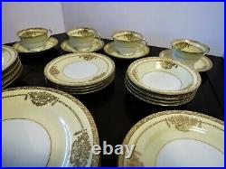 NORITAKE China PENELOPE 4781 (7) Piece Place Settings Service for (4) Vintage