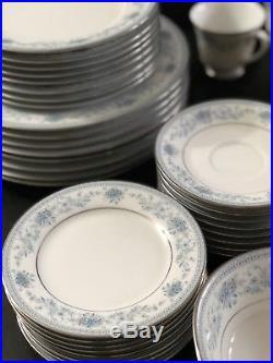 NORITAKE Contemporary Fine China BLUE HILL #2482 43 Piece Set Service for 8
