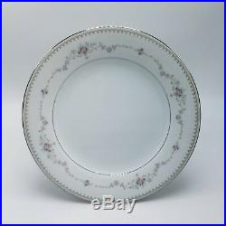 NORITAKE Dinner Plate Fine China 12 Piece Set Serves 12 FAIRMONT JAPAN PLATINUM