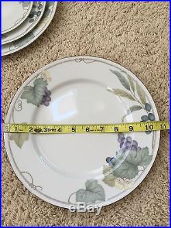 NORITAKE Fine China GRAPE ARBOR 4008 18 pc Vintage Dinnerware Dishes Set White