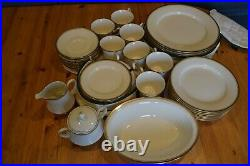 NORITAKE Fine Ivory China VICEROY 7222 43-piece Set Excellent Condition
